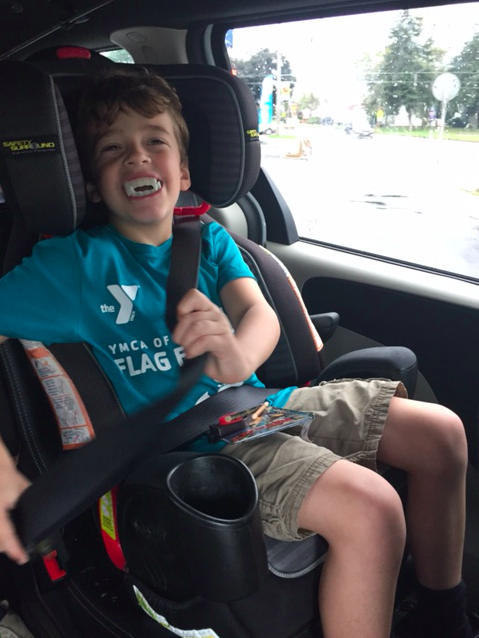 """""""The joy in this kid the whole time we were shopping was awesome,"""" the mom wrote. (Courtesy of Amy Betters-Midtvedt)"""