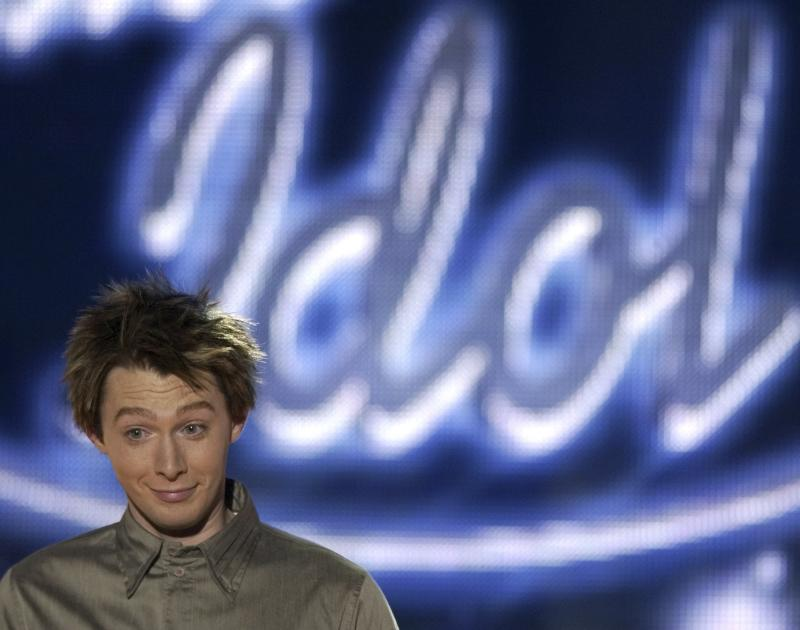 File photo of Clay Aiken from North Carolina reacts to judges comments after his performance for the title of American Idol in Los Angeles