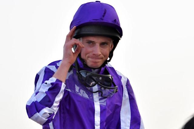 Ryan Moore and Aidan O'Brien ended Royal Ascot on a high note cpaturing their first Group One victory of the week with former Australian star Merchant Navy in the Diamond Jubilee Stakes (AFP Photo/GIUSEPPE CACACE)