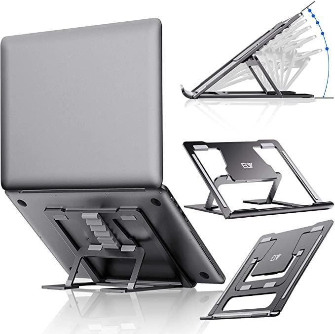 <p>The <span>ELV Adjustable Laptop Stand</span> ($20) will save her posture.</p>