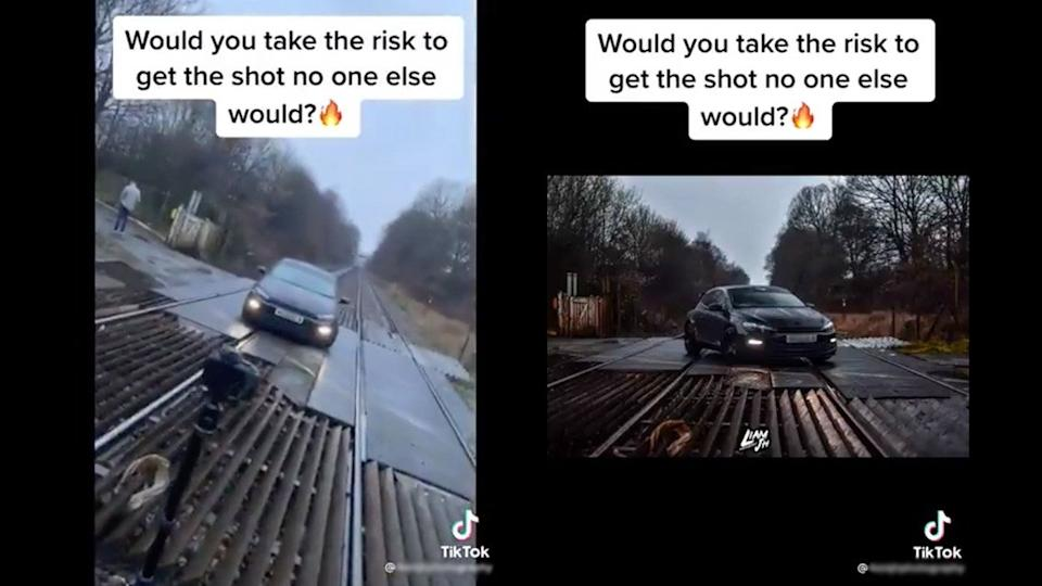 Police branded the TikTok video 'incredibly dangerous and reckless' (Network Rail)