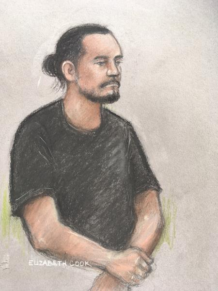 Court artist sketch by Elizabeth Cook of Jamie Acourt (Elizabeth Cook/PA)