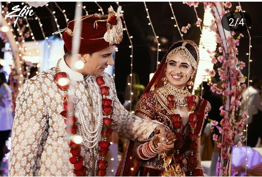 <p>Popular TV star, Prince Narula, whom you have seen in shows like Bigg Boss, Spitsvilla, Roadies and Naagin, took the plunge with longtime girlfriend, Yuvika Choudhary. The grand wedding ceremony took place in October this year and was attended by the who's who of the industry. The bride looked regal in her gold and red lehenga, and Prince was true to his name. </p>