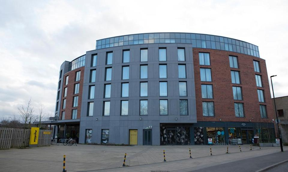 The Staycity hotel in York, where the first UK patients who tested positive for coronavirus stayed.