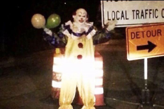 This clown was spotted on a quiet US road.