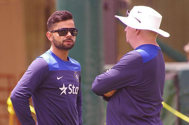 """After Maxwell admitted to his mental health issues, Indian skipper Virat Kohli came out in support of the Australian cricketer and also shared his experience with mental health struggles. Kohli spoke about going through a phase in his career in 2014 when he did not know what to do, how to say it or whom to communicate to. Speaking at a press conference ahead of India's test against Bangladesh in November 2019, Kohli said, """"To be honest, I couldn't have said I am not feeling great mentally and I want to get away from the game because you never know how that's taken."""" Kohli also said that mental health should be given great importance and that it should be alright for team members to take a break from the game to recuperate. <em><strong>Image credit</strong></em>: By NAPARAZZI - VIRAT KHOLI & DUNCAN FLETCHER, CC BY-SA 2.0, https://commons.wikimedia.org/w/index.php?curid=38063182"""