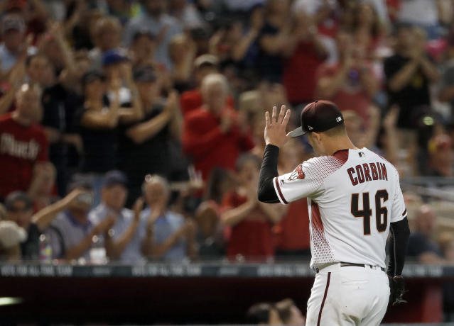 "Diamondbacks starter <a class=""link rapid-noclick-resp"" href=""/mlb/players/9168/"" data-ylk=""slk:Patrick Corbin"">Patrick Corbin</a> was lights-out on Wednesday. (AP Photo/Matt York)"