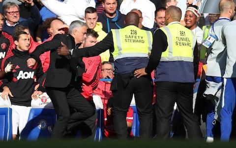 Chelsea are furious with assistant team coach Marco Ianni for celebrating wildly in front of Jose Mourinho, the incident which sparked a touchline melee at the end of the club's 2-2 draw with Manchester United.
