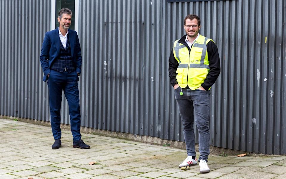 Marc van Doorn from the Brightlands Chemelot Campus (left) and Deep Branch chief executive Peter Rowe (right) - Deep Branch