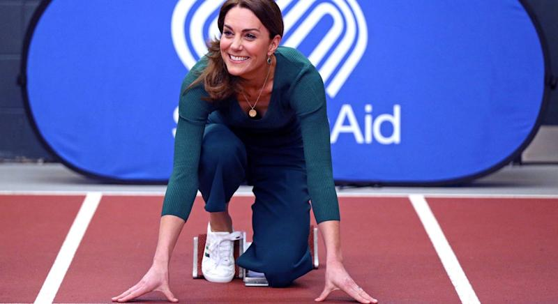 The Duchess of Cambridge's vegan trainers are back in stock. (Getty Images)
