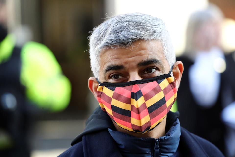 London's mayor, Sadiq Khan, said he is putting revitalising high streets, supporting communities and boosting jobs at the centre of his plan to rebuild the capital. Photo: Simon Dawson/Reuters
