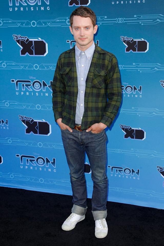 "Elijah Wood attends Disney XD's ""TRON: Uprising"" Press Event snd Reception at DisneyToon Studios on May 12, 2012 in Glendale, California."