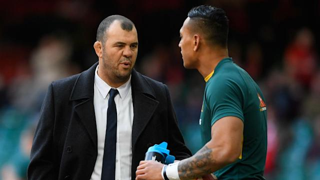 Israel Folau has not been operating at the peak of his powers for Waratahs, but Michael Cheika has backed the explosive back.