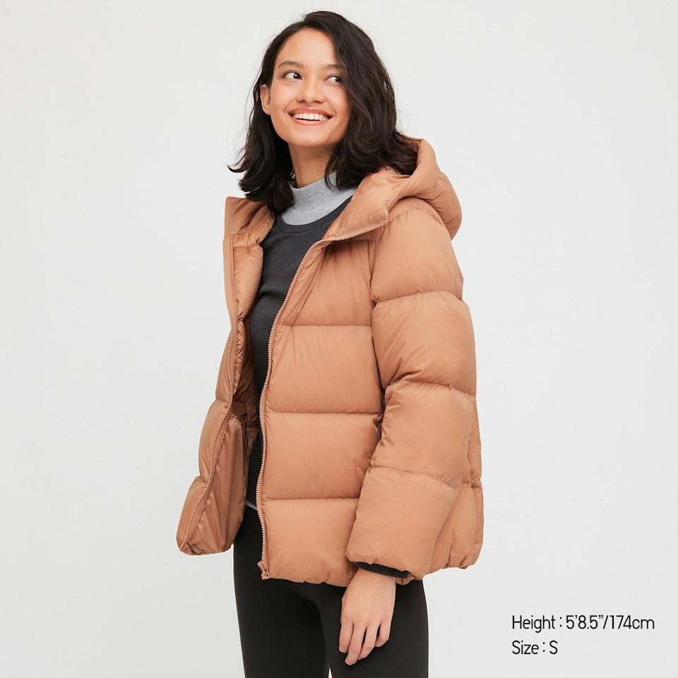 """<br><br><strong>Uniqlo</strong> Oversized quilted puffer jacket, $, available at <a href=""""https://www.uniqlo.com/uk/en/product/women-ultra-light-down-cocoon-parka-429458COL30SMA004000.html?"""" rel=""""nofollow noopener"""" target=""""_blank"""" data-ylk=""""slk:Uniqlo"""" class=""""link rapid-noclick-resp"""">Uniqlo</a>"""