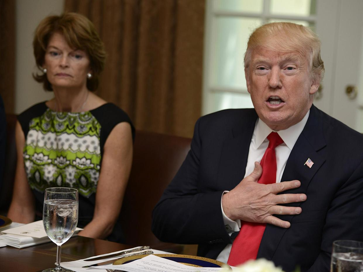 President Trump publicly criticised Senator Lisa Murkowski for failing to support his healthcare motion: Getty Images