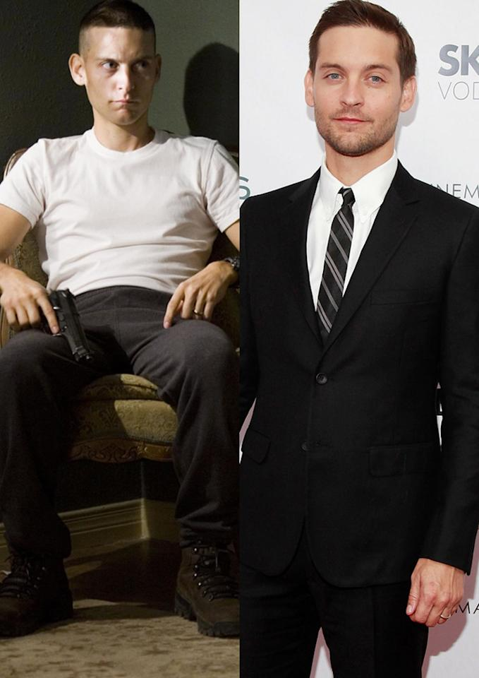 """This week Tobey Maguire revealed that he went on an """"extreme"""" 1,200-calories-a-day diet and exercised constantly to slim down for his role as a freed prisoner of war in the upcoming movie """"Brothers,"""" co-starring Natalie Portman and Jake Gyllenhaal. Lionsgate and Charles Eshelman/<a href=""""http://www.filmmagic.com/"""" target=""""new"""">FilmMagic.com</a> - November 22, 2009"""