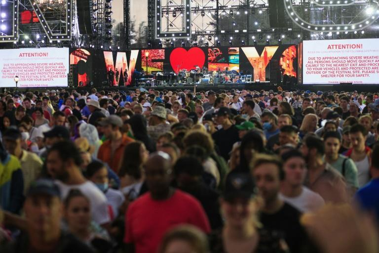 Some 60,000 people were expected at the 'We Love NYC: The Homecoming Concert' in Central Park in New York City