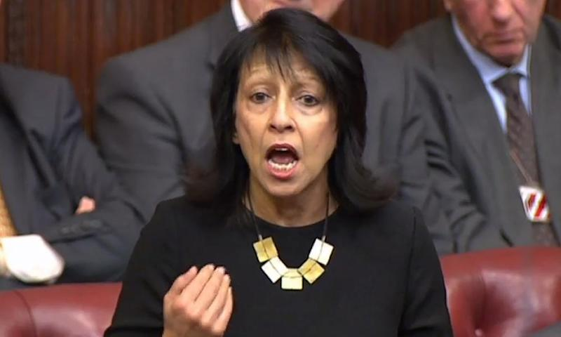 Kishwer Falkner, Baroness Falkner of Margravine, speaks at the start of the third day of The European Union (Notification of Withdrawal) Bill.