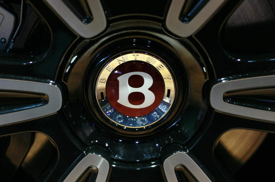 The tire of the Bentley 2013 Mulsanne