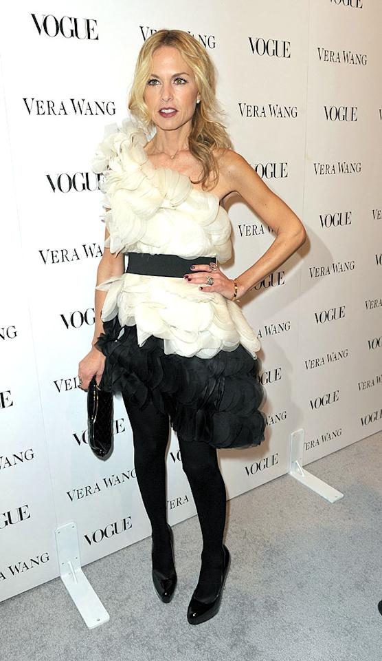 "Celebrity stylist Rachel Zoe popped a pose in a fluffy black and white, one-shoulder frock. John Shearer/<a href=""http://www.wireimage.com"" target=""new"">WireImage.com</a> - March 2, 2010"