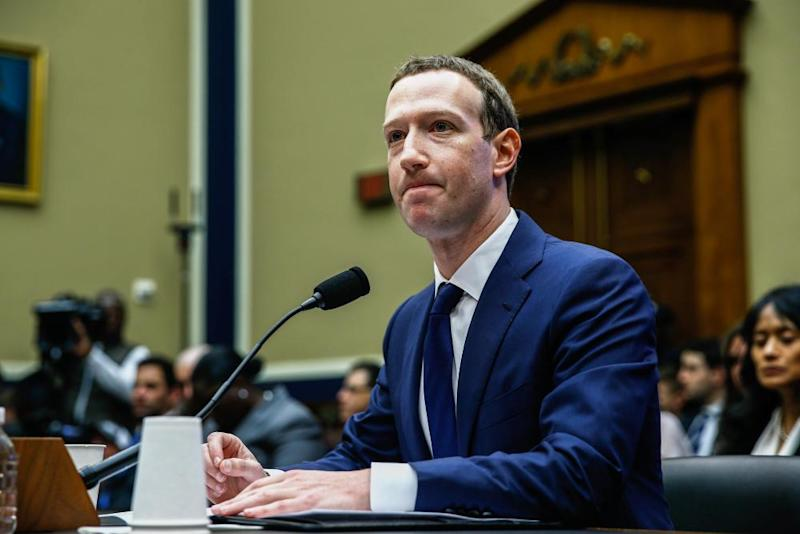 The Facebook chief executive, Mark Zuckerberg, testifies before the House of Representatives energy and commerce committee