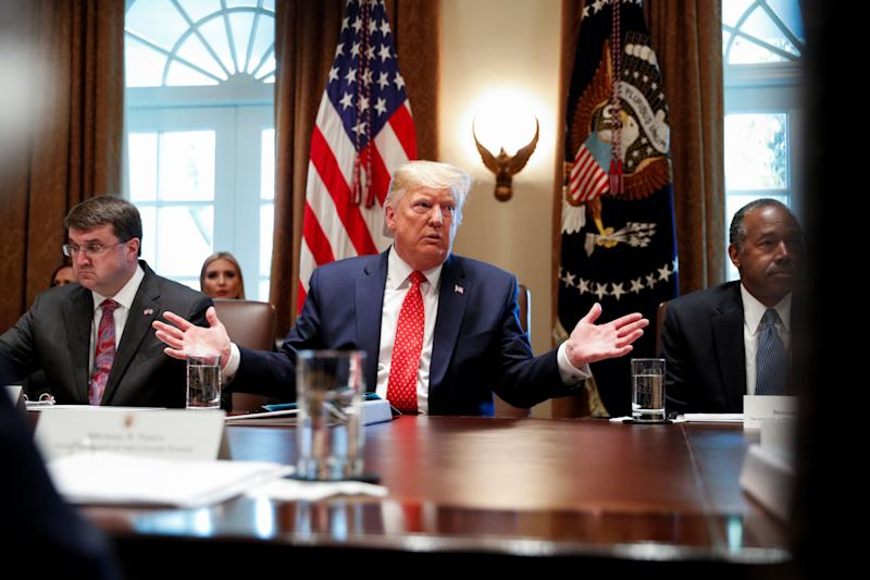 President Donald Trump hosts a Cabinet meeting at the White House on Tuesday. (Photo: Tom Brenner / Reuters)