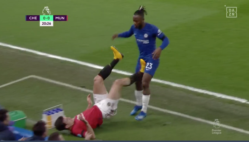 EMBED ONLY Harry Maguire, Michy Batshuayi, Chelsea vs Man Utd 2019-20