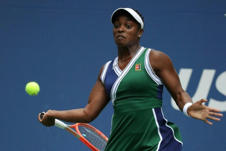 American Sloane Stephens, seen in her US Open match against Germany's Angelique Kerber on September 3, 2021, has revealed some of the abuse she receives on social media (AFP/Kena Betancur)