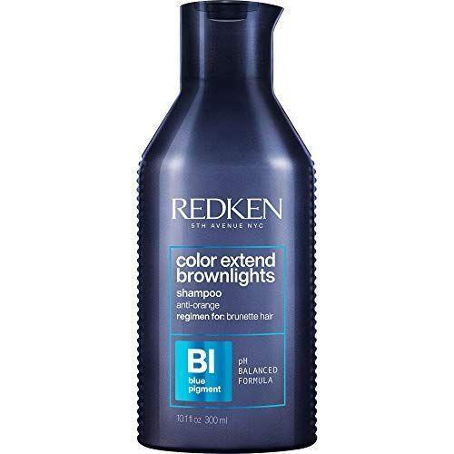 """<p><strong>REDKEN</strong></p><p>amazon.com</p><p><strong>$23.00</strong></p><p><a href=""""https://www.amazon.com/dp/B08SSCPPD8?tag=syn-yahoo-20&ascsubtag=%5Bartid%7C10055.g.37068674%5Bsrc%7Cyahoo-us"""" rel=""""nofollow noopener"""" target=""""_blank"""" data-ylk=""""slk:Shop Now"""" class=""""link rapid-noclick-resp"""">Shop Now</a></p><p>Not only does this blue shampoo pack a powerful punch against unwanted orange, it also <strong>gently cleanses hair without stripping and helps prolong color in between salon visits</strong>. """"I've used this product twice over the last four days and my hair looks like I stepped out of the salon,"""" one reviewer says. Let this shampoo sit for a few minutes before rinsing for the best results. </p>"""