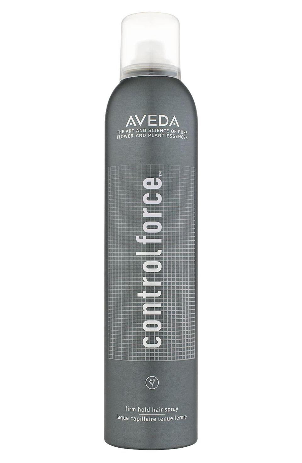 """<p><strong>AVEDA</strong></p><p><strong>$32.00</strong></p><p><a href=""""https://go.redirectingat.com?id=74968X1596630&url=https%3A%2F%2Fshop.nordstrom.com%2Fs%2Faveda-control-force-firm-hold-hair-spray%2F3412053&sref=https%3A%2F%2Fwww.cosmopolitan.com%2Fstyle-beauty%2Fbeauty%2Fg37884764%2Fspring-2022-hair-trends%2F"""" rel=""""nofollow noopener"""" target=""""_blank"""" data-ylk=""""slk:Shop Now"""" class=""""link rapid-noclick-resp"""">Shop Now</a></p><p>To keep the middle <a href=""""https://www.cosmopolitan.com/style-beauty/beauty/g30767306/how-to-part-your-hair/"""" rel=""""nofollow noopener"""" target=""""_blank"""" data-ylk=""""slk:hair part"""" class=""""link rapid-noclick-resp"""">hair part</a> sharp, secure the back half of your hair into a ponytail first. Then, spray the front with this strong hairspray and slick back one side of your hair at a time. <strong>This spray also protects against humidity</strong>—a must when we're talking about spring.</p>"""
