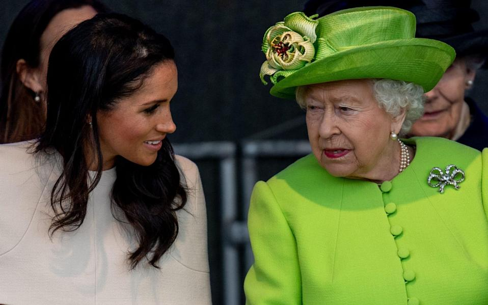 The Duchess of Sussex said the Queen had been supportive  - GETTY IMAGES