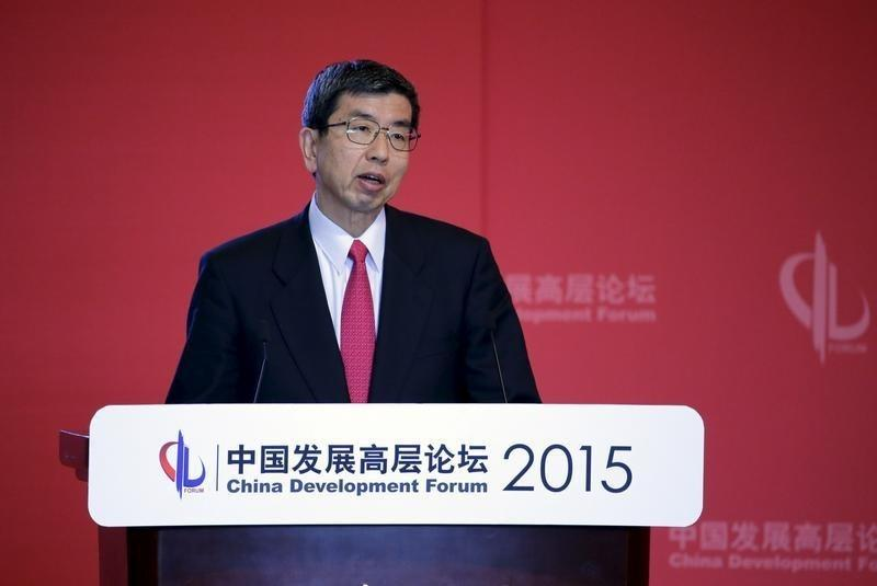 Asian Development Bank President Takehiko Nakao delivers a speech at China Development Forum in Beijing