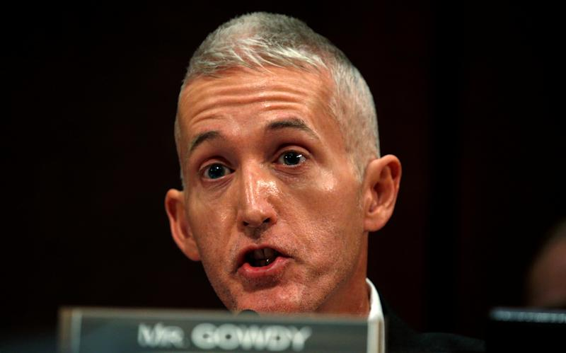 House oversight committee Chairman Trey Gowdy threatened to hold FBI and DOJ officials in contempt of Congress. (Kevin Lamarque/Reuters)