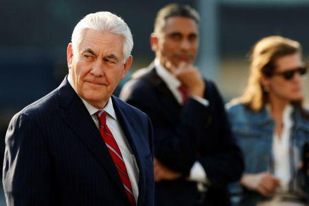 Tillerson arrives in Mexico City