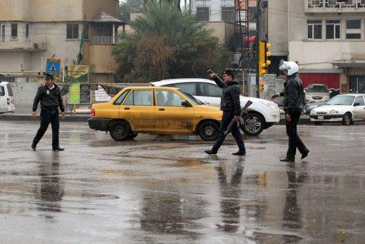 The heavy rainfall caused problems for Baghdad's sewage system