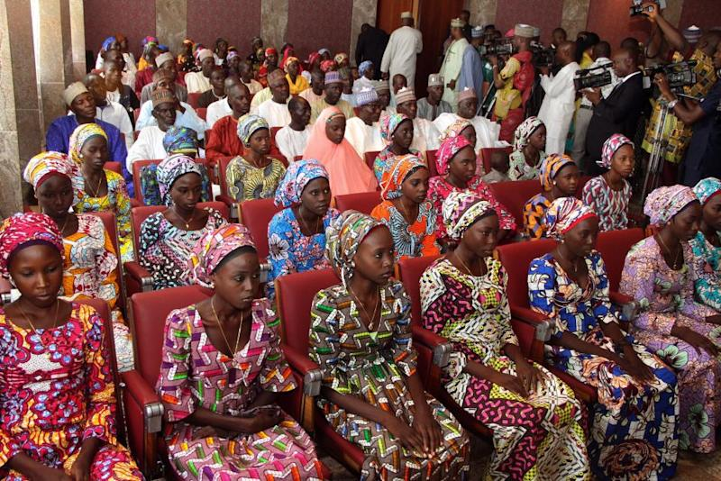 Red Cross tweets image of freed Chibok girls
