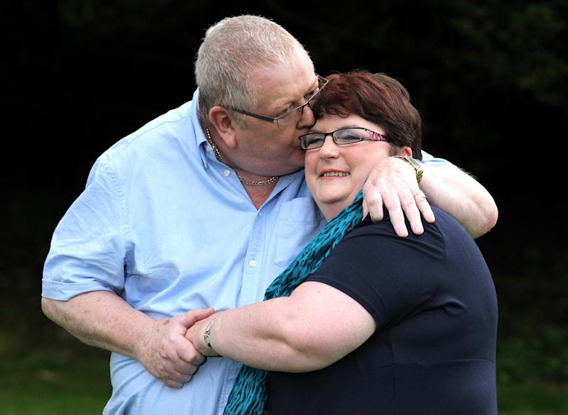 "File photo dated 15/07/11 of Colin and Chris Weir, from Largs in Ayrshire, celebrating after their life-changing �161 million EuroMillions lottery win. The couple have announced ""with deep regret"" that they are to divorce, almost eight years after their massive win."