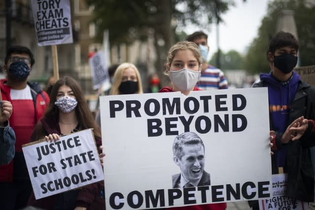 Students have previously protested about the Government's handling of the pandemic