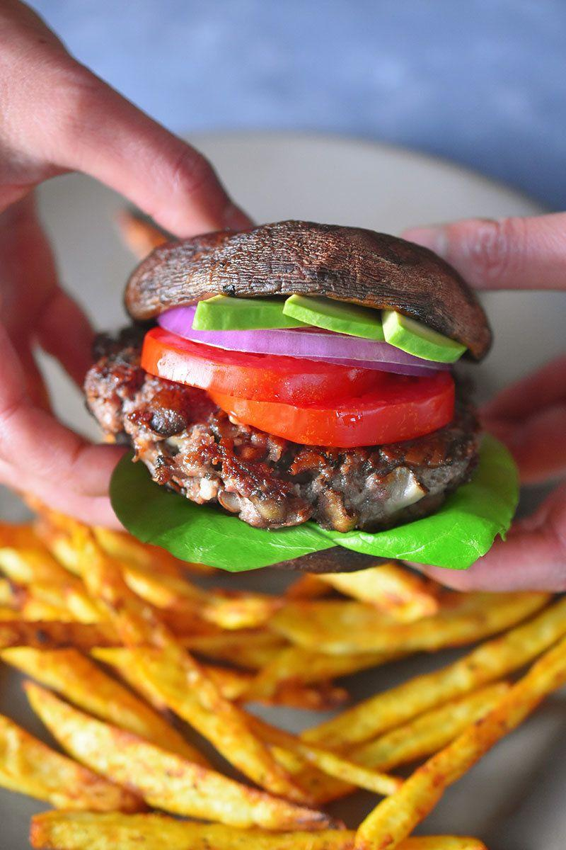 """<strong>Get the <a href=""""https://nomnompaleo.com/post/107666997683/whole30-day-10-big-o-bacon-burgers-whole-foods"""" target=""""_blank"""">Big-O Bacon Burgers</a> recipe from NomNomPaleo</strong>"""