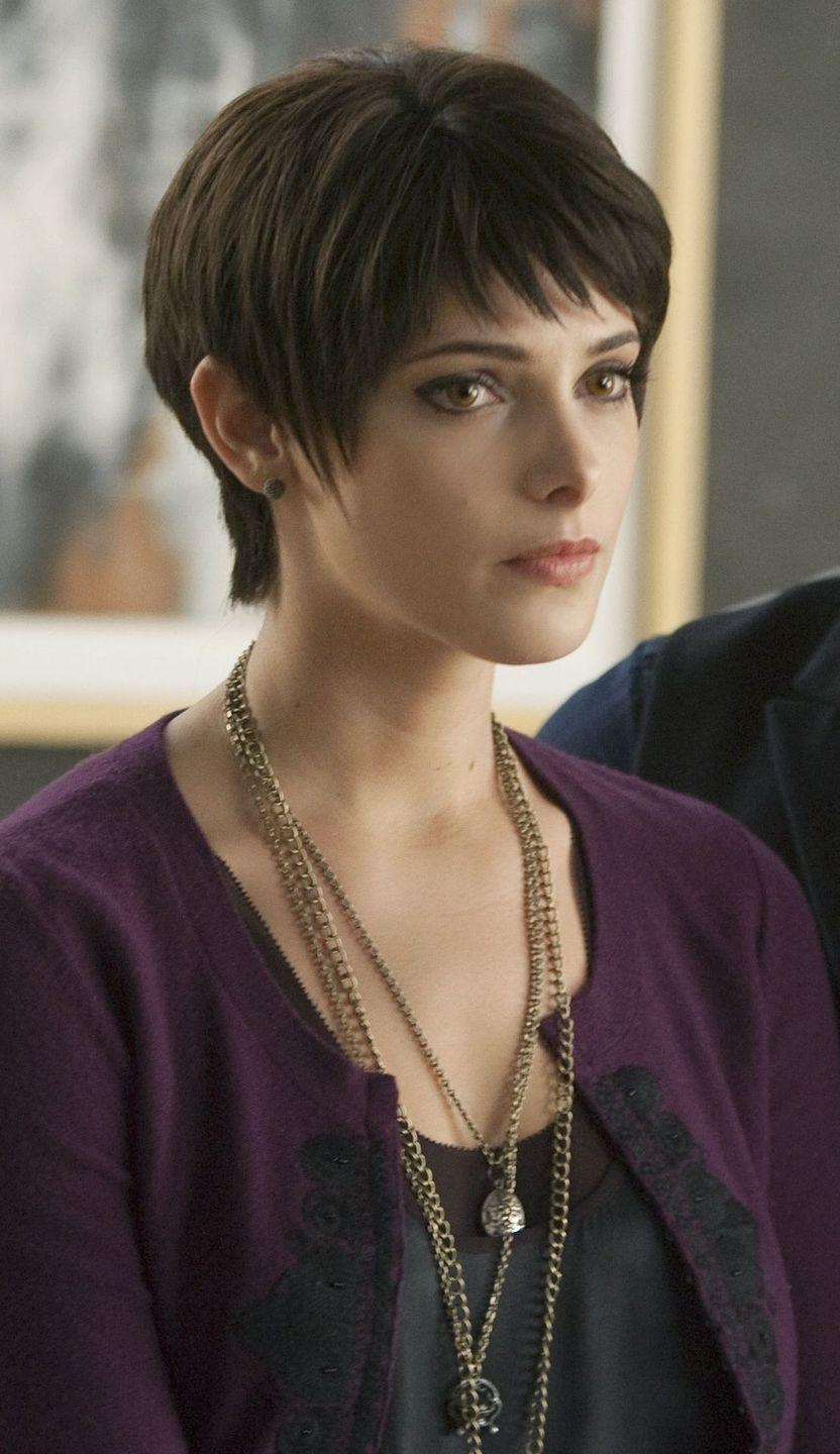 """<p>Alice Cullen had a few startling hair transformations during the five <em>Twilight</em> films, which begs the question: Does vampire hair still grow? Paired with some layered necklaces and a cardigan that's still relevant in 2020, this spiky pixie cut deserves a movie all its own. To mimic the look, try using a flat iron like the <a href=""""https://www.ulta.com/pixie-on-point-12-tourmaline-ceramic-straightener?productId=pimprod2000621"""" rel=""""nofollow noopener"""" target=""""_blank"""" data-ylk=""""slk:Bed Head Pixie On Point Straightener"""" class=""""link rapid-noclick-resp"""">Bed Head Pixie On Point Straightener</a> ($30), and some <a href=""""https://www.sephora.com/product/matte-pomade-P411727?country_switch=us&lang=en&skuId=1837202&om_mmc=ppc-GG_1918210005_73516274307_pla-420670336703_1837202_353513009983_9004077_c&ds_rl=1261471&gclid=CjwKCAjw74b7BRA_EiwAF8yHFPTIoIrPr0tSjfAsxBkGJHpkLu3aXJKicvg1khGm5pqia8lVZe9s-xoCzTgQAvD_BwE&gclsrc=aw.ds"""" rel=""""nofollow noopener"""" target=""""_blank"""" data-ylk=""""slk:OUAI Matte Pomade"""" class=""""link rapid-noclick-resp"""">OUAI Matte Pomade</a> ($24) to add some spiky texture.</p>"""