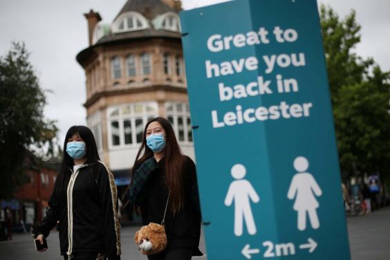 Non-essential shops were closed in Leicester on Tuesday (Reuters)
