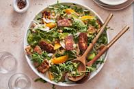 """<p>Crispy fried cheese in a tangy, herb-packed dressing is guaranteed to impress.</p><p>Get the recipe from <a href=""""https://www.delish.com/cooking/recipe-ideas/a36321546/halloumi-salad-recipe/"""" rel=""""nofollow noopener"""" target=""""_blank"""" data-ylk=""""slk:Delish"""" class=""""link rapid-noclick-resp"""">Delish</a>.</p>"""