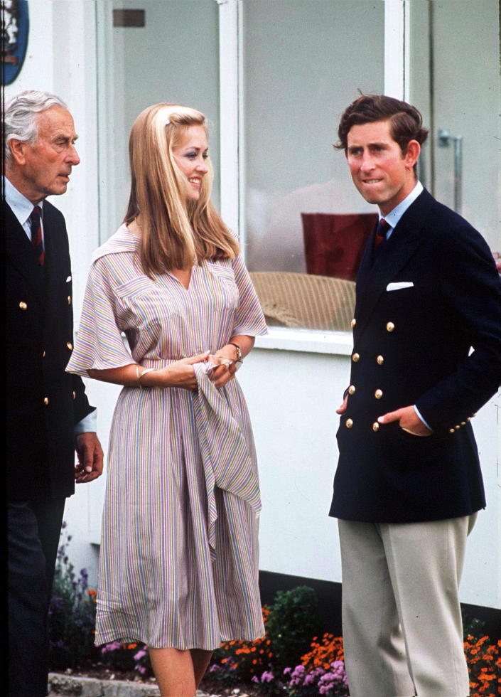 WINDSOR, UNITED KINGDOM - JULY 01:  Prince Charles With Earl Mountbatten And Penelope Eastwood (who Became Lady Penelope (penny) Romsey When She Later Married Norton Knatchbull, Lord Romsey) At Polo (exact Date Not Certain)  (Photo by Tim Graham Photo Library via Getty Images)