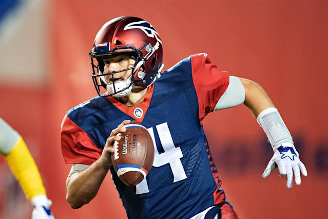 Former Penn State QB Christian Hackenberg lost his AAF job three weeks into the season. (Getty)
