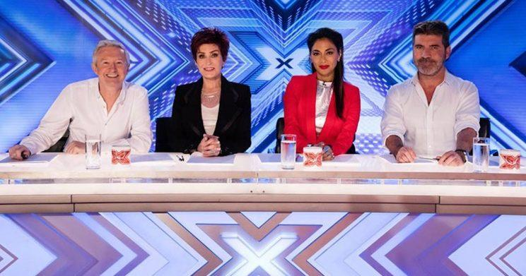 The X Factor 2016 judging panel: Louis Walsh, Sharon Osbourne, Nicole Scherzinger and Simon Cowell (Copyright: ITV)