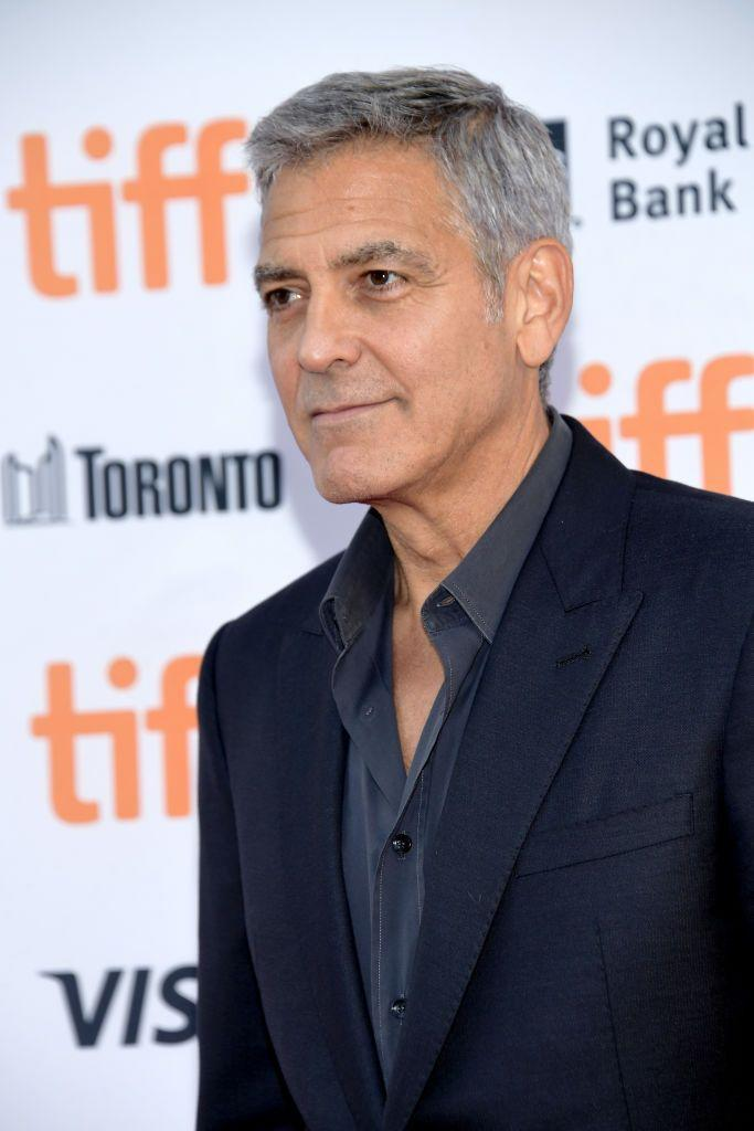 <p>Without the beard, Clooney's age shows a bit more.</p>