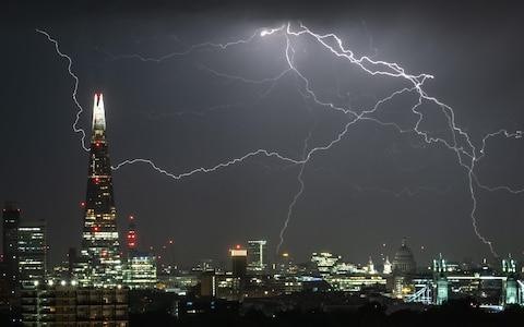 The weather has already brought thunder and lightning - Credit: Guy Corbishley / Alamy Live News