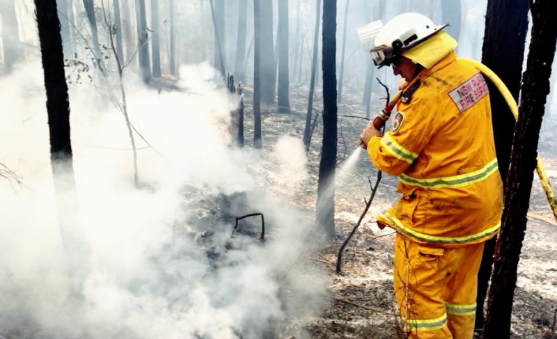 Firefighter Joe Arena who is crowdfunding to buy better masks for NSW fire crew.
