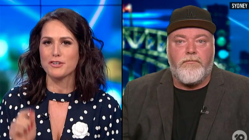 Host Rachel Corbett's point was rebutted by Kyle's pay check. Photo: Ten