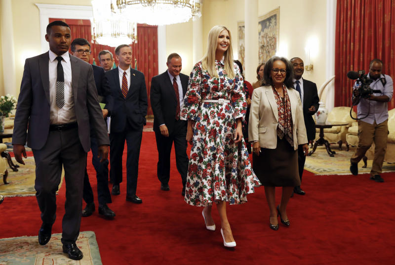 Ivanka Trump honours victims of Ethiopian air crash